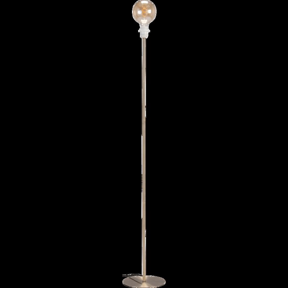 Pied de lampadaire en métal doré brossé H141cm-ROSARIO