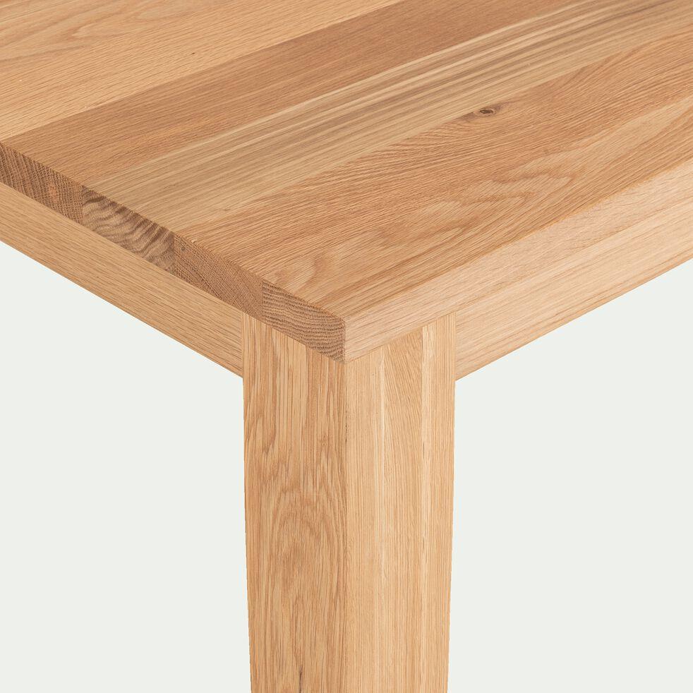 Table de repas rectangulaire en chêne massif - 4 à 6 convives-MELINDA
