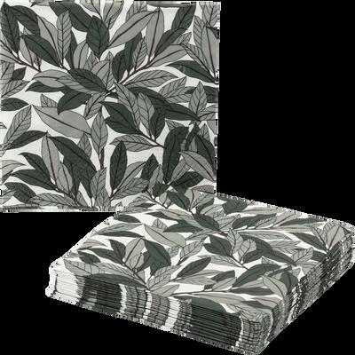 Lot de 20 serviettes en papier décoré 33x33cm-SAZE