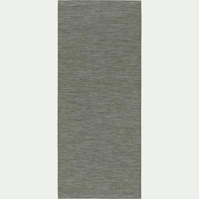 Tapis de cuisine effet tissé - vert olivier 50x120cm-VITOU