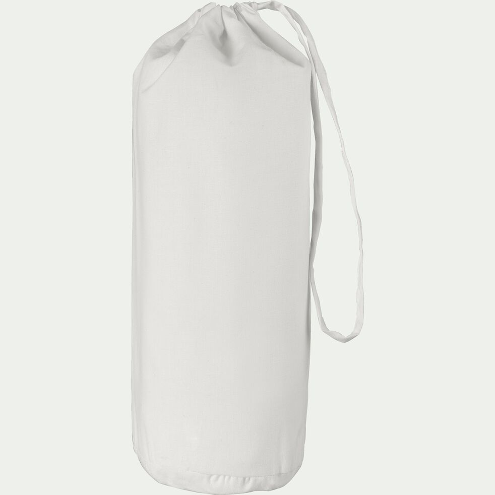 Drap housse en coton - blanc capelan 160x200cm B25cm-CALANQUES