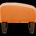 Pouf en tissu orange-LEGGY