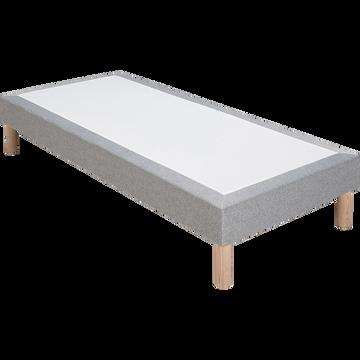 Sommier tapissier 90x200cm gris clair-SORMIOU
