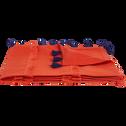 Plaid en lin et coton Orange brique 130x170 cm-REDA