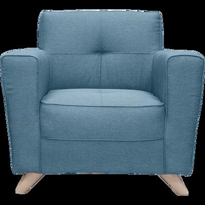 Fauteuil en tissu bleu figuerolles-VICKY