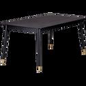 Table de repas noire plaquée frêne - 6 places-BOLLENE