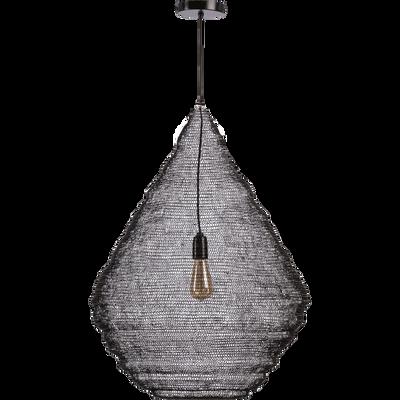 Suspension en fer noir H80xD60cm-LOUP