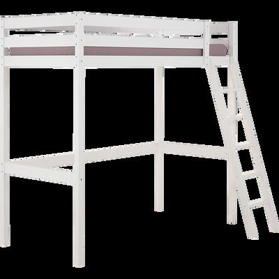 Lit mezzanine blanc 90x200cm-SPIGAOU