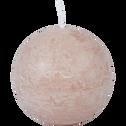 Bougie ronde rose sable D10cm-BEJAIA