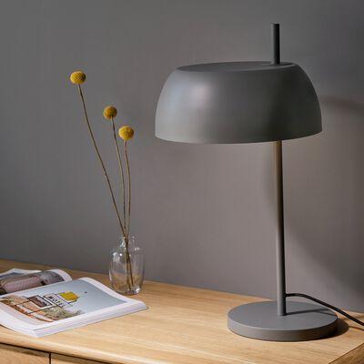 Lampe en métal gris restanque H54xD30cm-LOLLY
