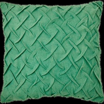 Coussin lin et coton vert menthe 40x40 cm-AZIO