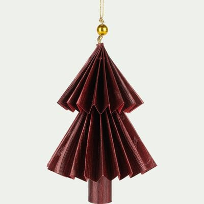 Suspension sapin en papier rouge H12cm-BRANCAS