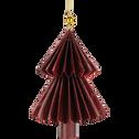 Suspension sapin en papier rouge H12cm-BRANCAS