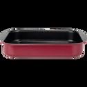 Plat à four rectangulaire en aluminium rouge sumac 20x25cm-PINTO