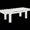 Table de jardin extensible en aluminium blanc (10 places)-LORETO