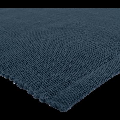 Descente de lit en coton bleu figuerolles-CAMELIA