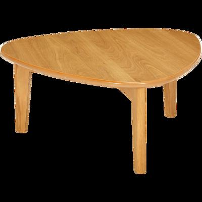 Table basse triangulaire plaquée chêne-Siwa