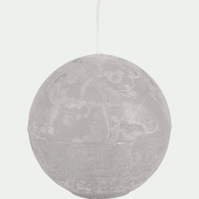 Bougie ronde - gris borie D10cm-BEJAIA