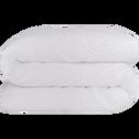 Housse de couette en coton blanc-CALANQUES
