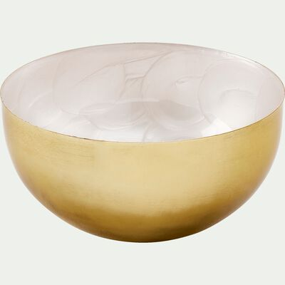 Bol en métal doré et blanc D14cm-BATAAN