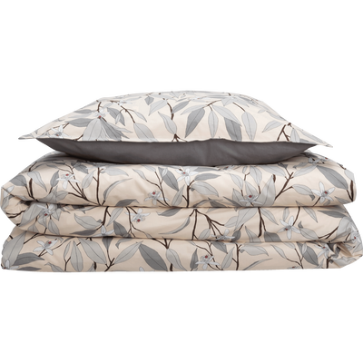 Lot de 2 taies d'oreiller en percale de coton imprimé Fleurs d'oranger - Plusieurs tailles-FANNY