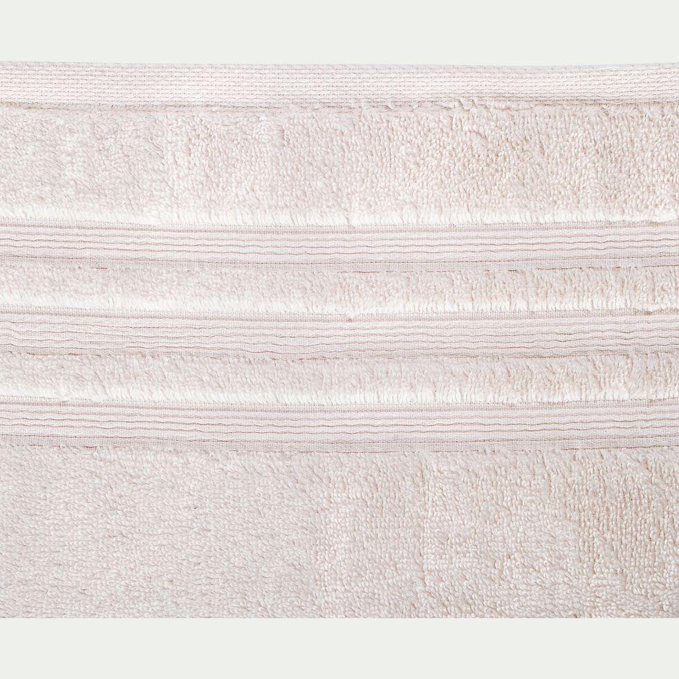 Lot de 2 serviettes invité bouclette en coton - blanc ventoux 30x50cm-Noun