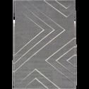 Tapis lignes creusées gris 160x230cm-XENON