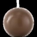 Bougie ronde brun châtaigner D10cm-HALBA