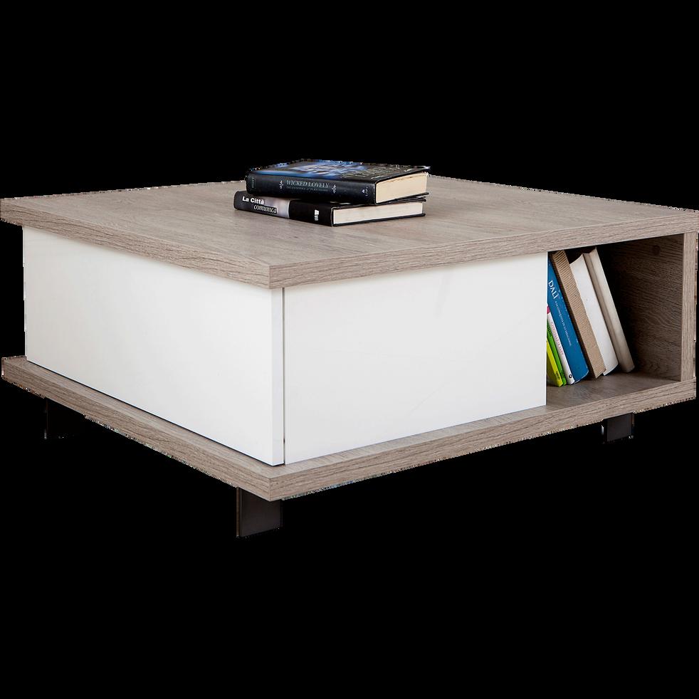 table basse avec tiroir de rangement et niche traversante enzo tables basses alinea. Black Bedroom Furniture Sets. Home Design Ideas