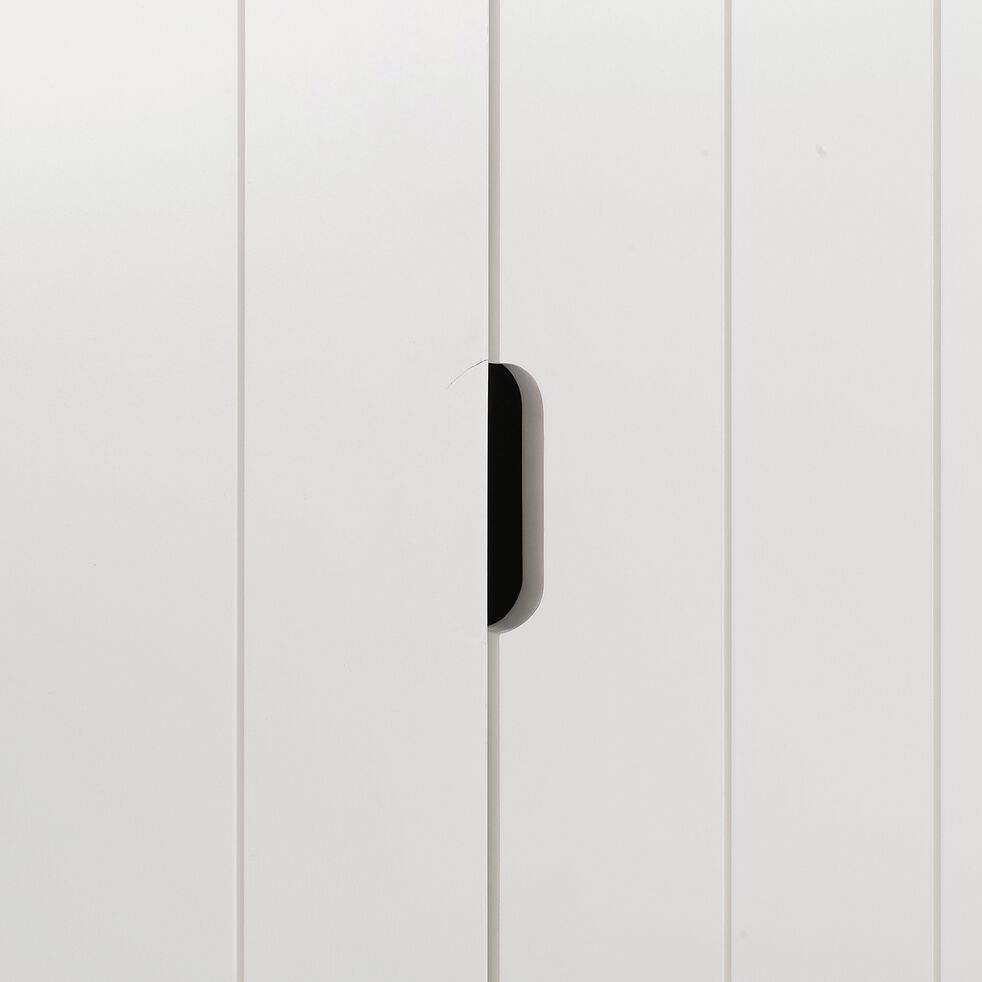 Armoire 2 portes et 1 tiroir chambre enfant - blanc-POLLUX