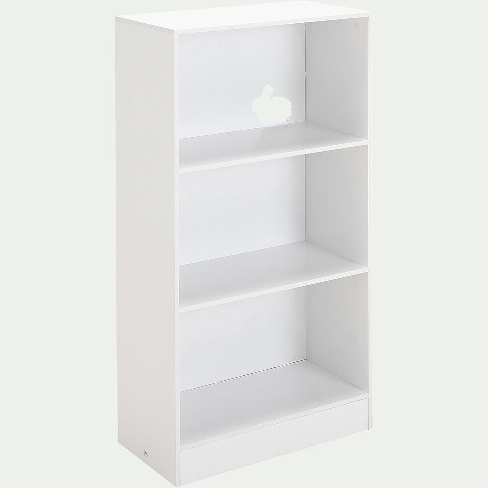 Bibliothèque 2 étagères pour chambre enfant - blanc-Dico