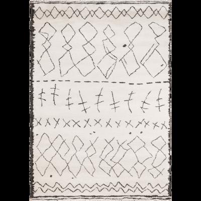 Tapis rectangulaire à motifs écru 200x290 cm-TOINOUCH