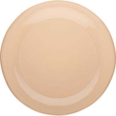 Assiette plate en faïence rose grège D27cm-LUBERON
