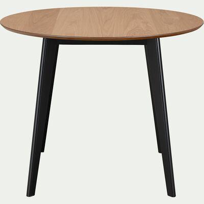 Table de repas ronde plaqué chêne et hévéa - naturel ( 2 à 4 places )-JANI