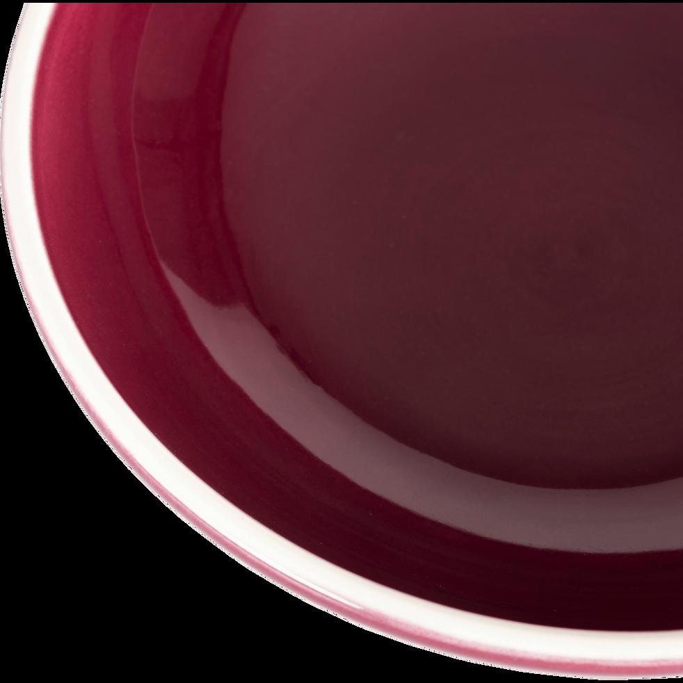 Assiette à dessert en faïence rouge D22cm-CAMELIA