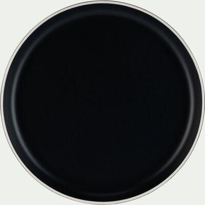 Assiette plate en faïence D27cm - noir-NIERO