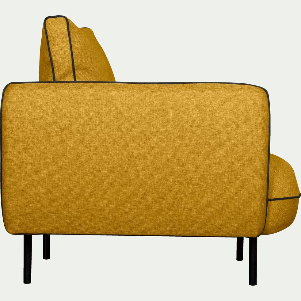 Fauteuil en tissu - jaune nèfle-SAOU
