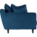 Canapé 2 places convertible en velours bleu figuerolles-LENITA