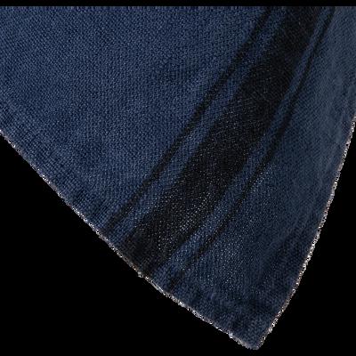 Torchon en lin bleu 46x70cm-GIARA