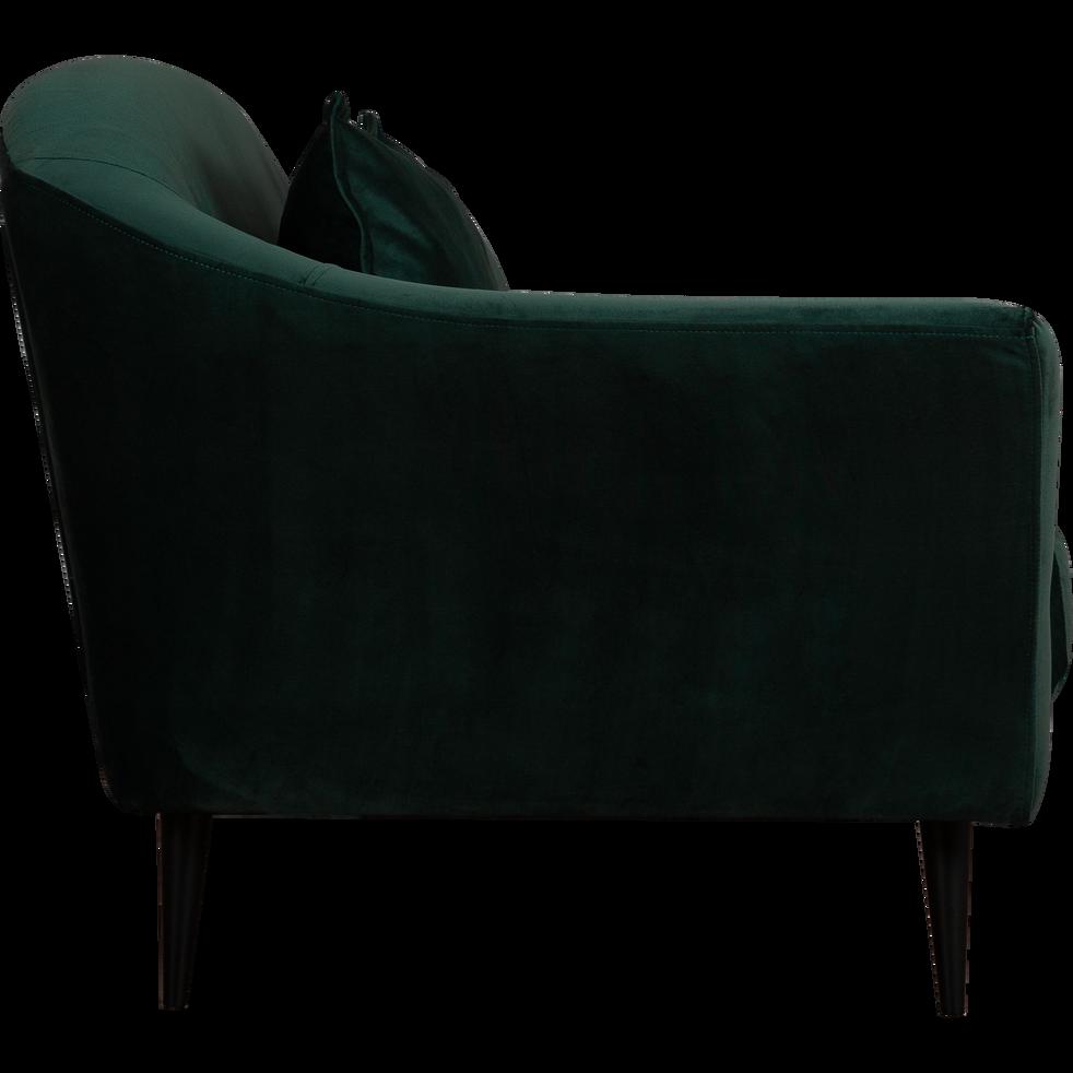 Canapé 3 places fixe en velours vert cèdre-VENUS