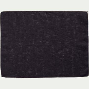 Set de table en lin et coton gris calabrun 36x48cm-MILA