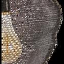 Suspension en fer noir H100xD65cm-LOUP