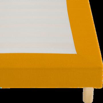 Housse pour sommier Topaze Beige nèfle - 160x200 cm-TOPAZE