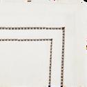 Lot de 2 serviettes de table en coton blanc et noir 41x41cm-GALLIA