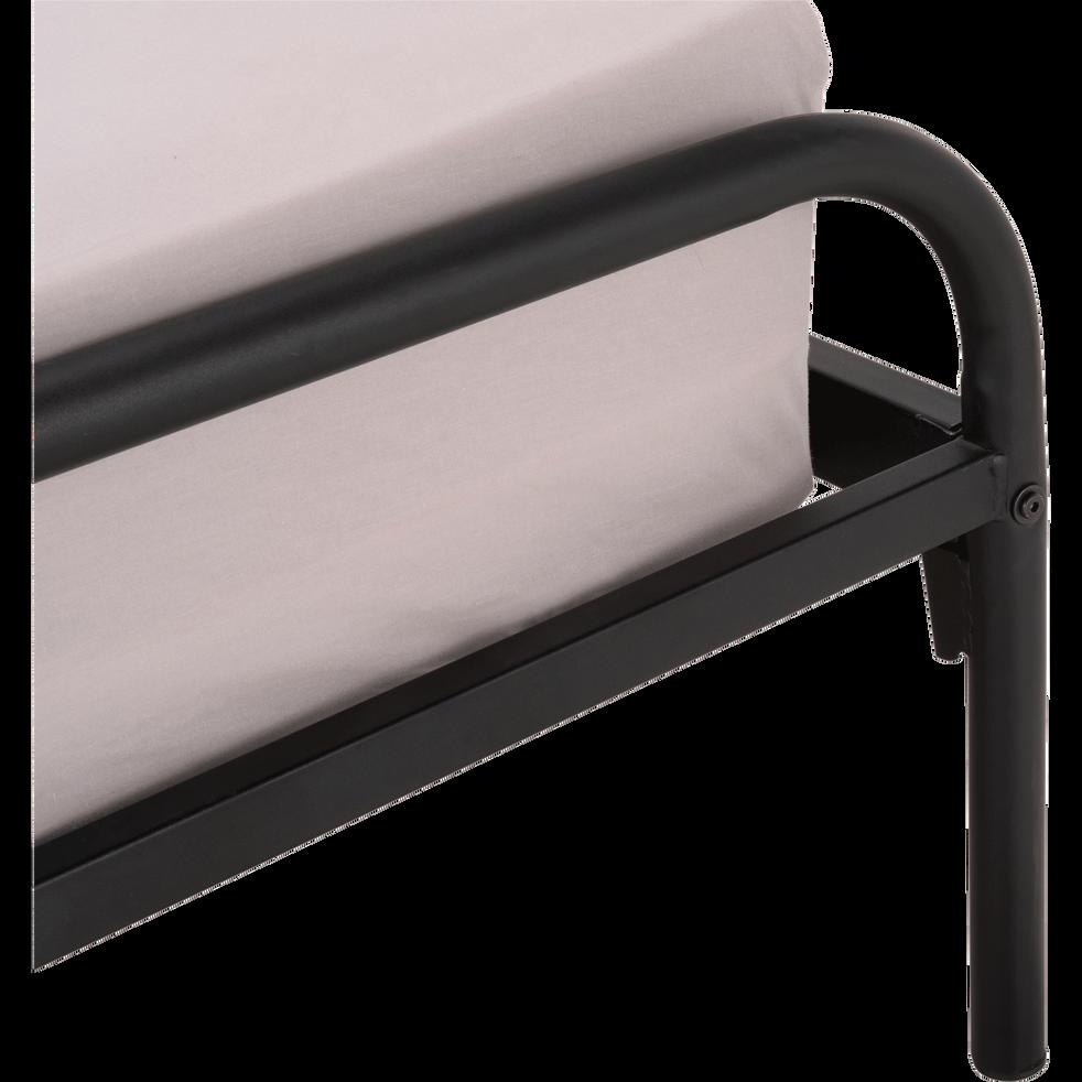 Lit en métal noir 160x200cm-GRIVE