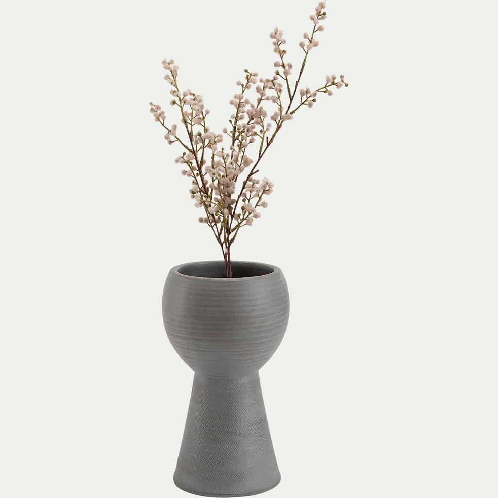 Pot en terre cuite - gris D17x28cm-PIGNA