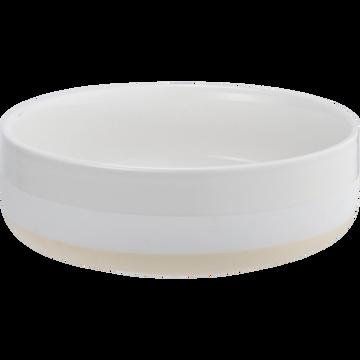 Saladier blanc nougat en porcelaine D20,3cm-LANAU