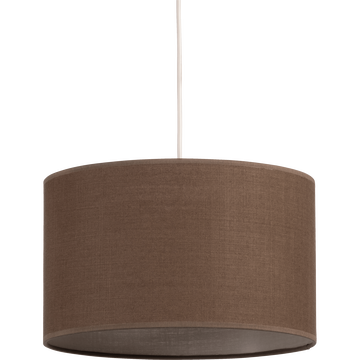 Suspension cylindrique en tissu brun D60cm-MISTRAL