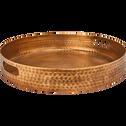 Plateau en métal doré avec poignées D45 cm-ANTICHE