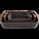 Plat à four noir en grès 26x16cm-DARKSTONE